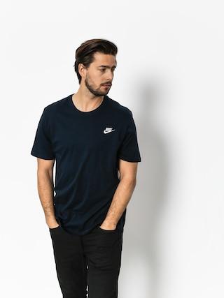 T-shirt Nike Club Embrd (dark obsidian/white)