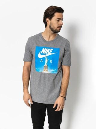 T-shirt Nike Air 1 (carbon heather/white)