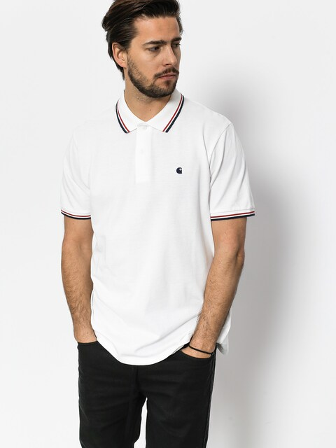 Polo Carhartt Venice (white/navy/goji)