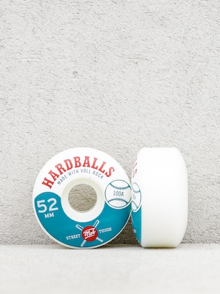 Kółka Mob Skateboards Hardballs (white/teal)