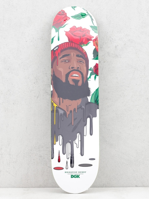 Deck DGK Quise Murked (white/red/black)