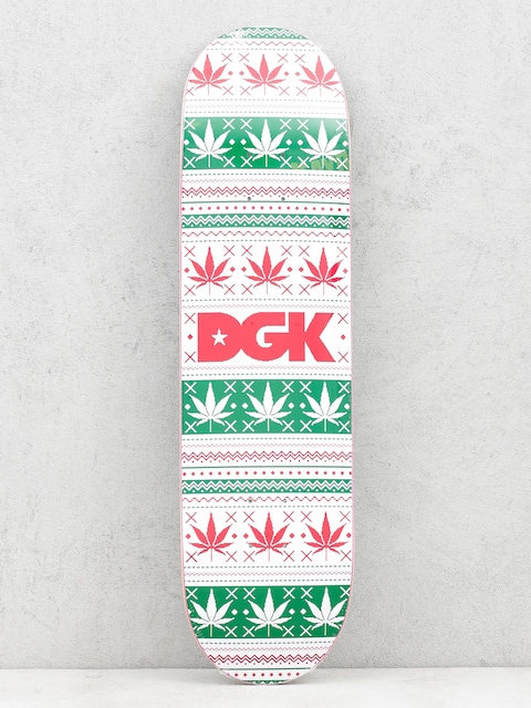 Deck DGK Pixel Logo (white/green/red)