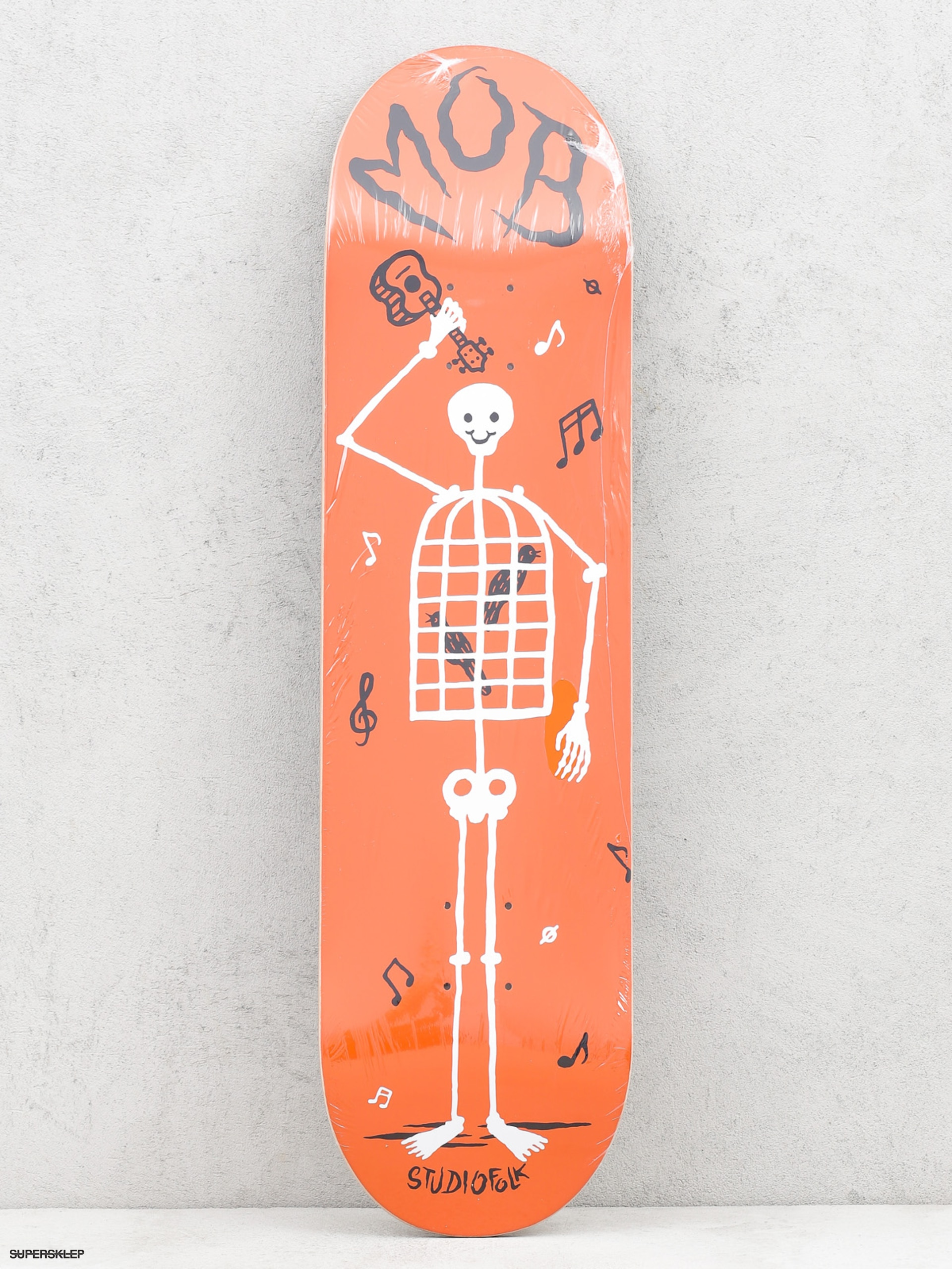 Deck Mob Skateboards Skeletown (red)