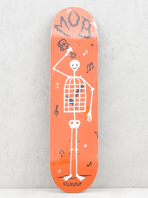 Deck Mob Skateboards Skeletown (red)