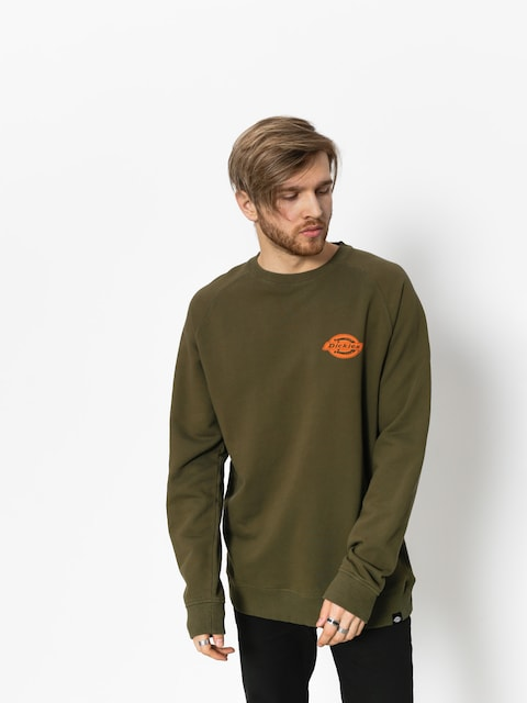 Bluza Dickies Briggsville (dark olive/orange)