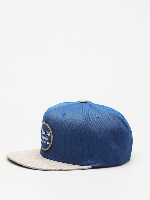 Czapka z daszkiem Brixton Wheeler ZD (dark blue/light heather grey)