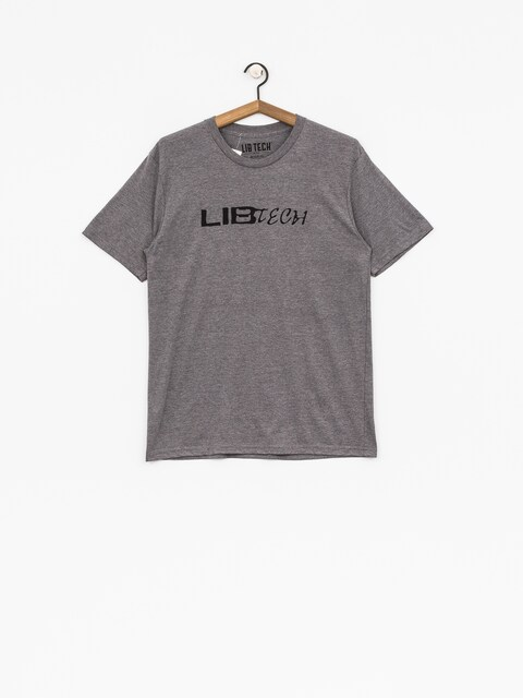 T-shirt Lib Tech Logo (heather charcoal)