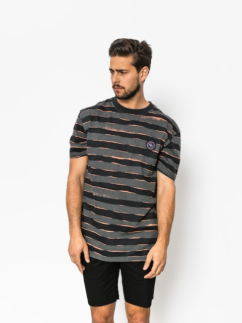 T-shirt Quiksilver Allover Mad Wax (black mad max stripes)