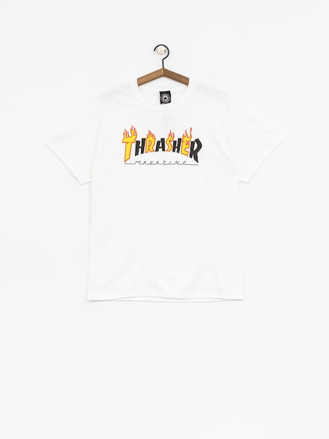 T-shirt Thrasher Flame Mag (white)