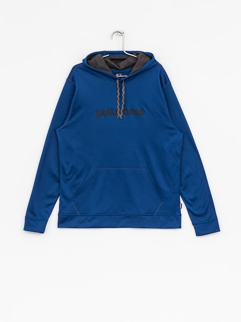 Bluza z kapturem Patagonia Text Logo PolyCycle HD (superior blue)