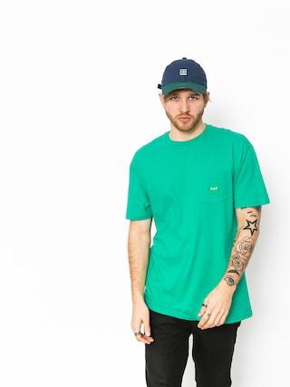 T-shirt HUF Box Logo Pocket (emerald)