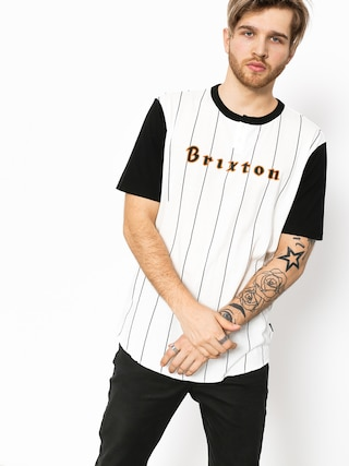 T-shirt Brixton Proxy Henley (black/off white)