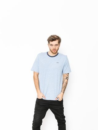 T-shirt Brixton Potrero III Prt (heather blue/washed navy)