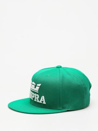 Czapka z daszkiem Supra Above Snap ZD (green/white white)
