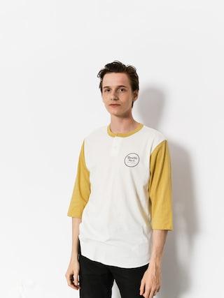 Koszulka Brixton Wheeler 3/4 Slv Henley (off white/modela)