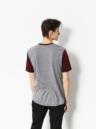 T-shirt Brixton Novato Knit (heather grey/maroon)