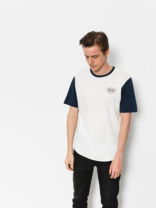 T-shirt Brixton Novato Knit (off white/navy)