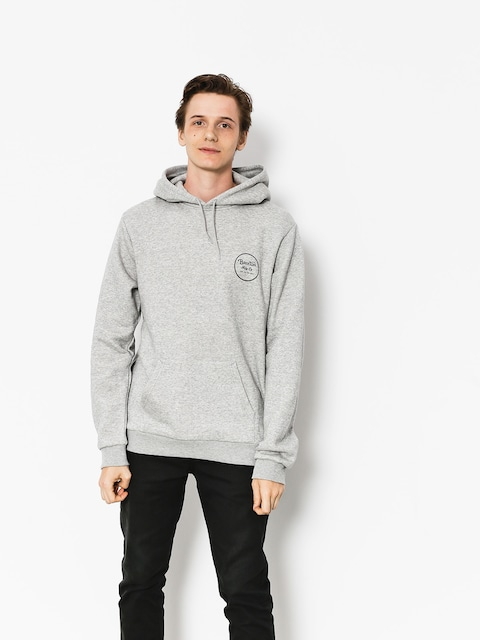 Bluza z kapturem Brixton Wheeler III Eu HD (heather grey/black)