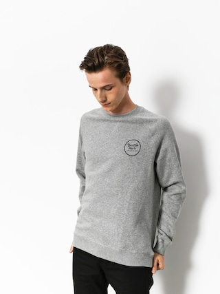 Bluza Brixton Wheeler III Eu Crew (heather grey)