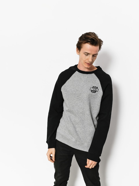 Bluza Brixton Garth Intl Crew (heather grey/black)