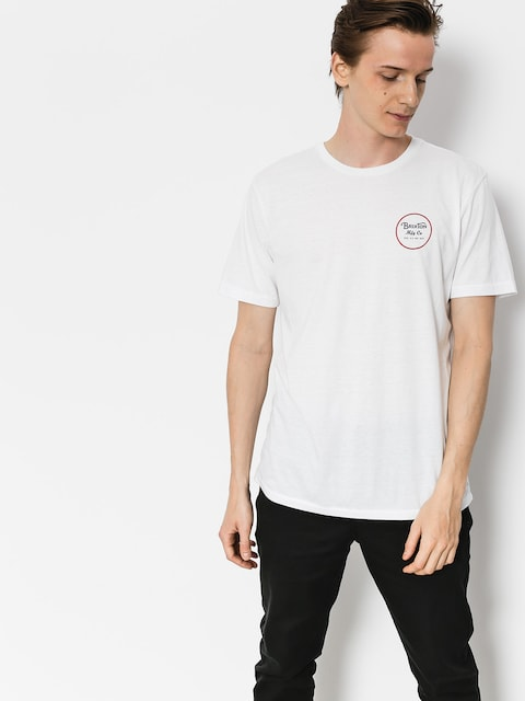 T-shirt Brixton Wheeler II Prt (white/red)