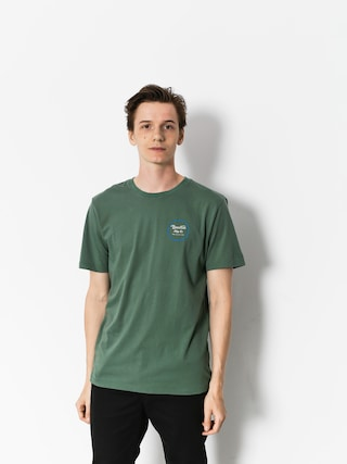 T-shirt Brixton Wheeler II Prt (washed chive)