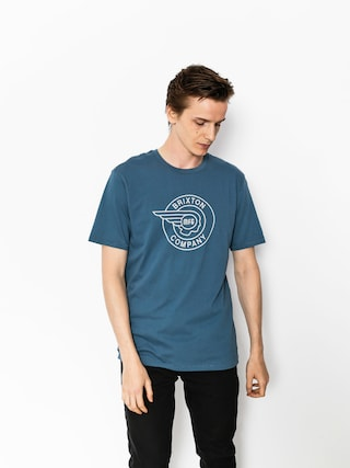 T-shirt Brixton Mercury Prt (dusty blue)