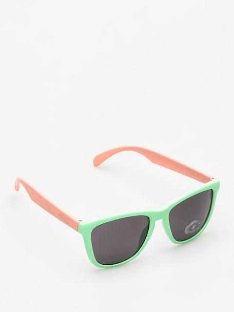 Okulary przeciwsłoneczne Majesty Shades M (avocado/powder pink/smoke lens)
