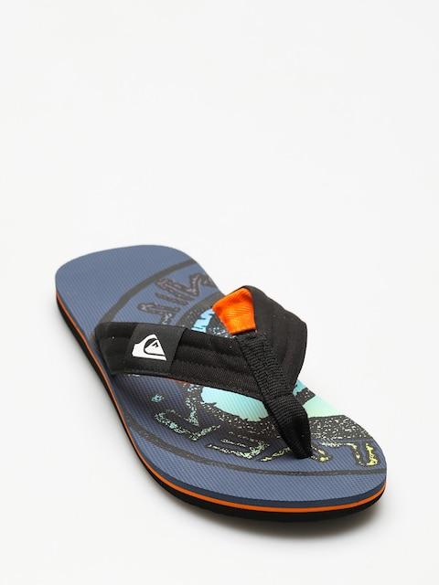 Japonki Quiksilver Molokai Layback (black/orange/green)