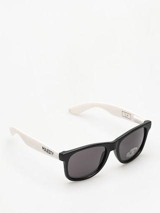 Okulary przeciwsu0142oneczne Majesty Shades L (black/white smoke lens)