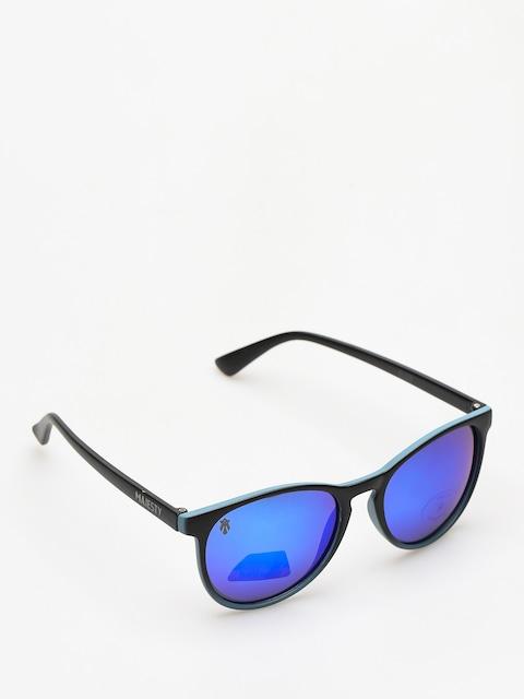 Okulary przeciwsłoneczne Majesty Rush (black/blue mirror lens)