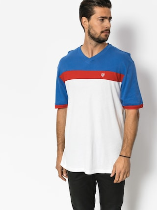 T-shirt Brixton Substance Knit (white/royal)