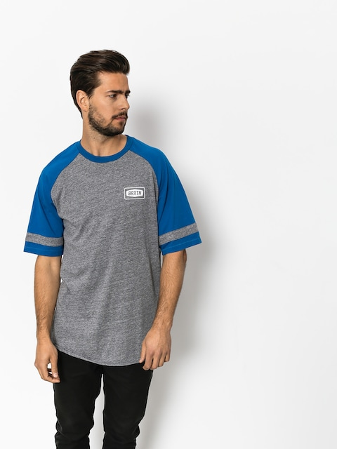 T-shirt Brixton Rockford Baseball (heather grey/royal)