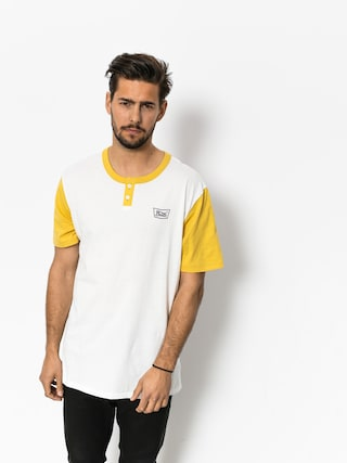 T-shirt Brixton Stith Henley (off white/washed yellow)