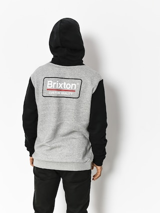 Bluza z kapturem Brixton Palmer Intl HD (heather grey/black)