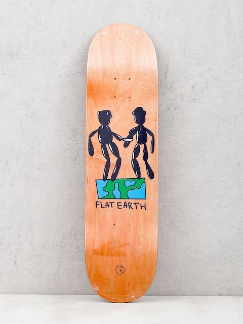 Deck Polar Skate Team Flat Earth (orange)