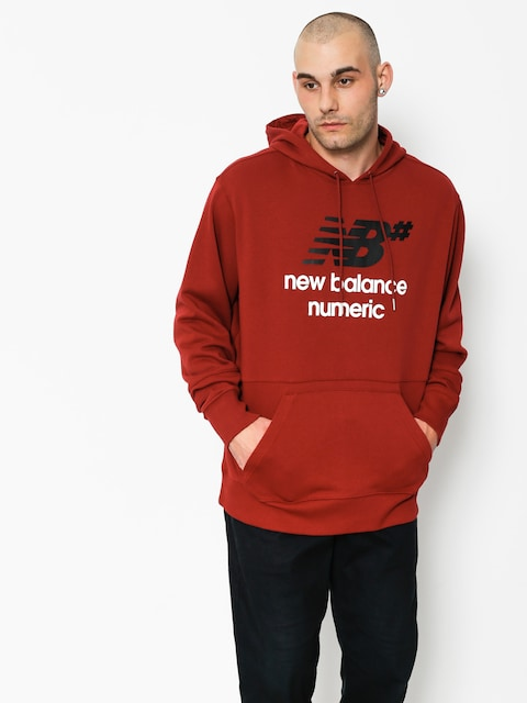Bluza z kapturem New Balance Numeric Logo Stacked HD (red)