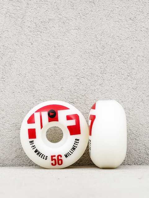 Kółka Stereo HiFi Logo (red/white)