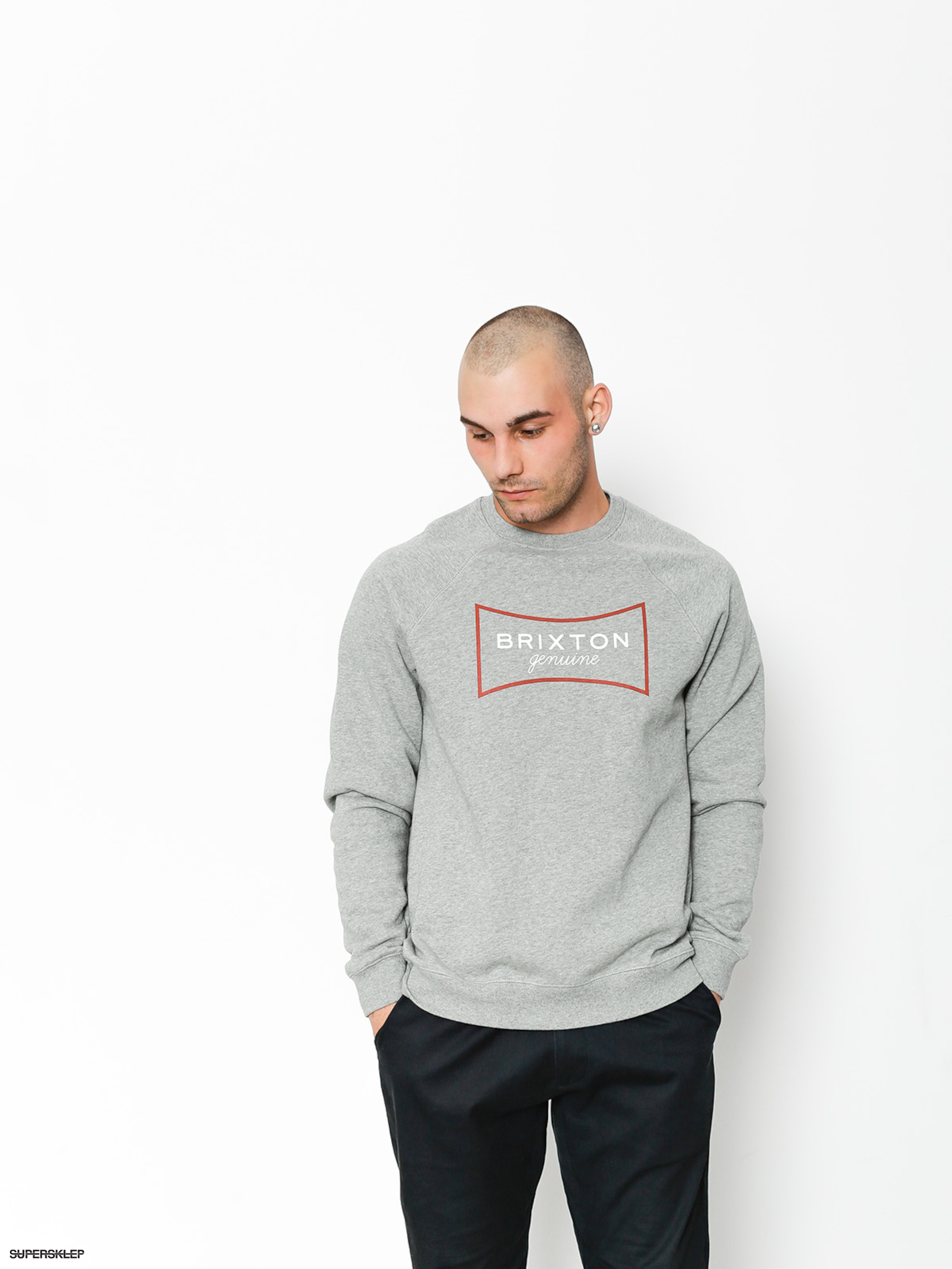 Bluza Brixton Ramsey III Intl Crew (heather grey)