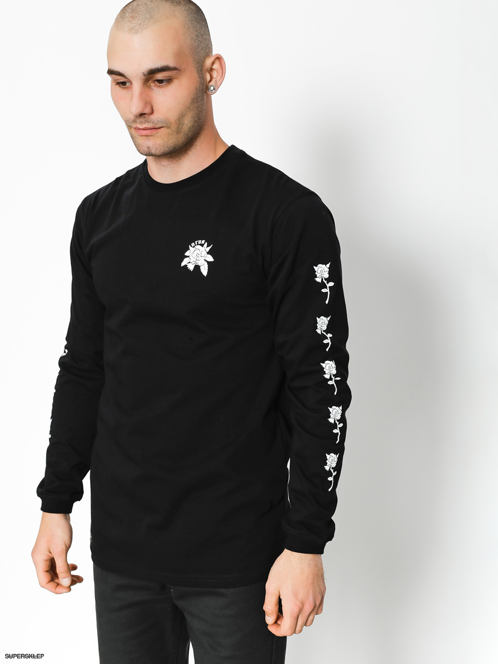 Longsleeve Nervous Rose (black)