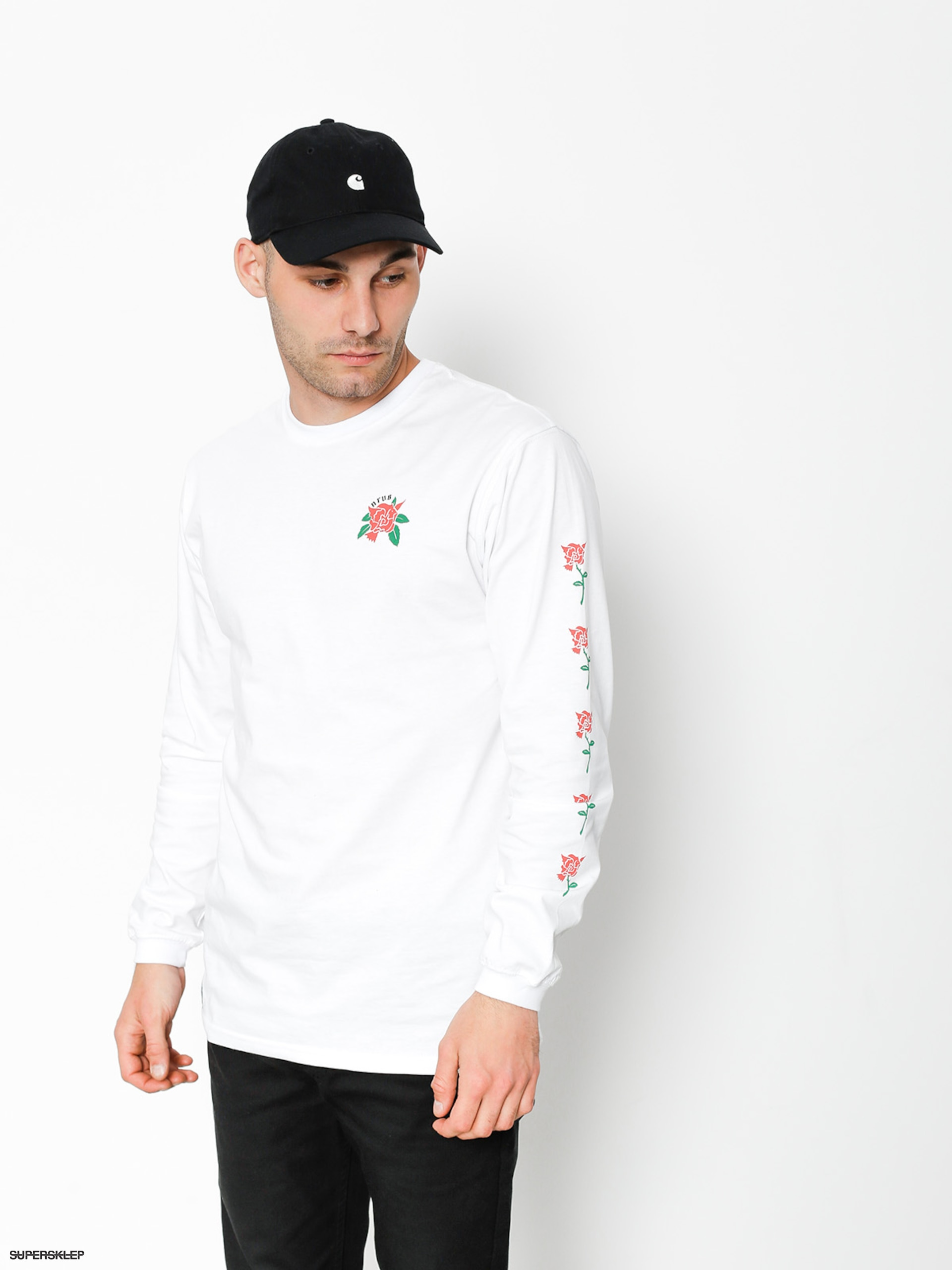 Longsleeve Nervous Rose (white)