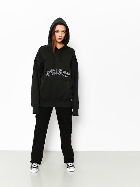 Bluza z kapturem Stussy Lennox Oversized HD Wmn (black)