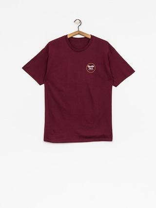 T-shirt Brixton Wheeler II Stnd (burgundy/gold)