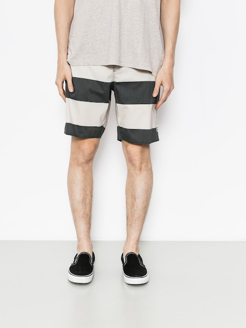 Boardshorty Brixton Barge Stripe Trunk (washed black/bone)
