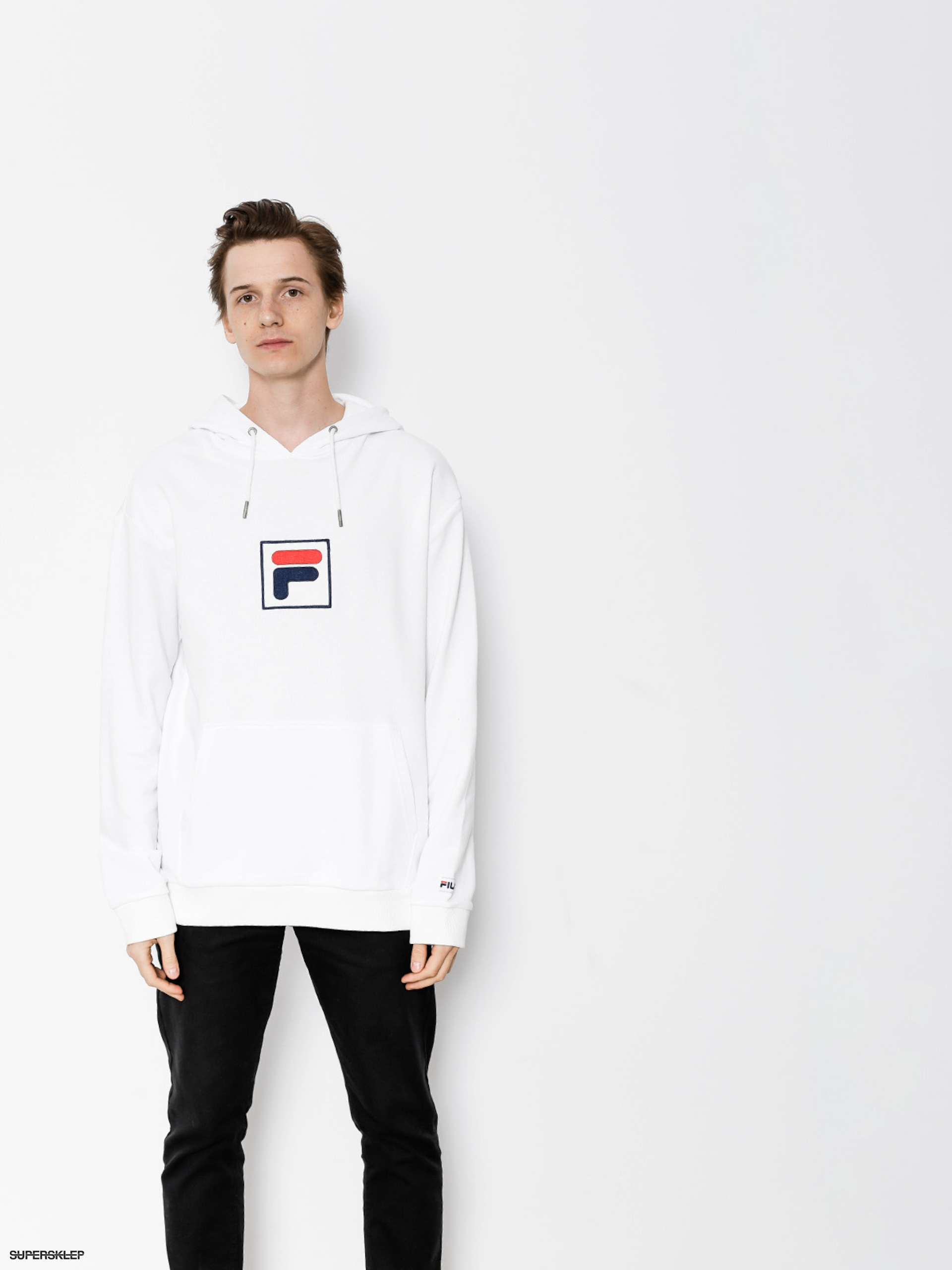 Bluza z kapturem Fila Shawn HD (bright white)