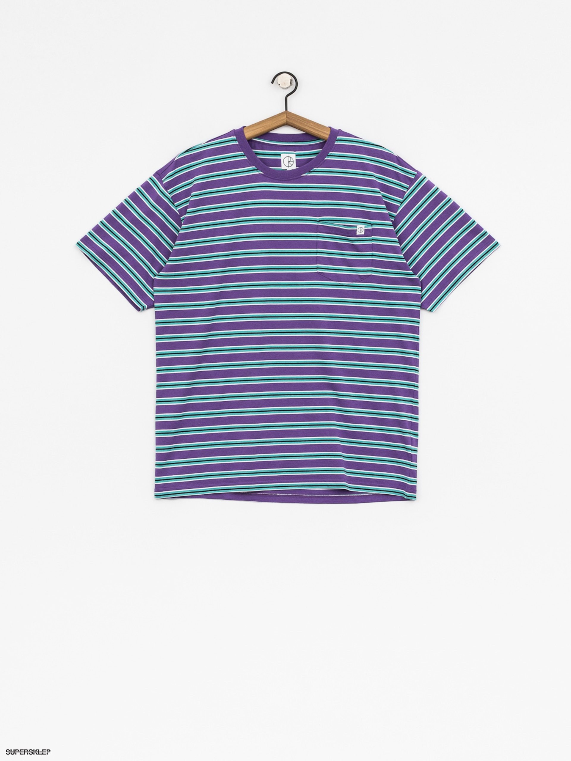T-shirt Polar Skate Striped Pocket (voilet/mint)