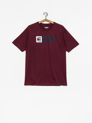 T-shirt Etnies New Box (burgundy)