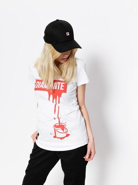 T-shirt Diamante Wear Paint Red Wmn
