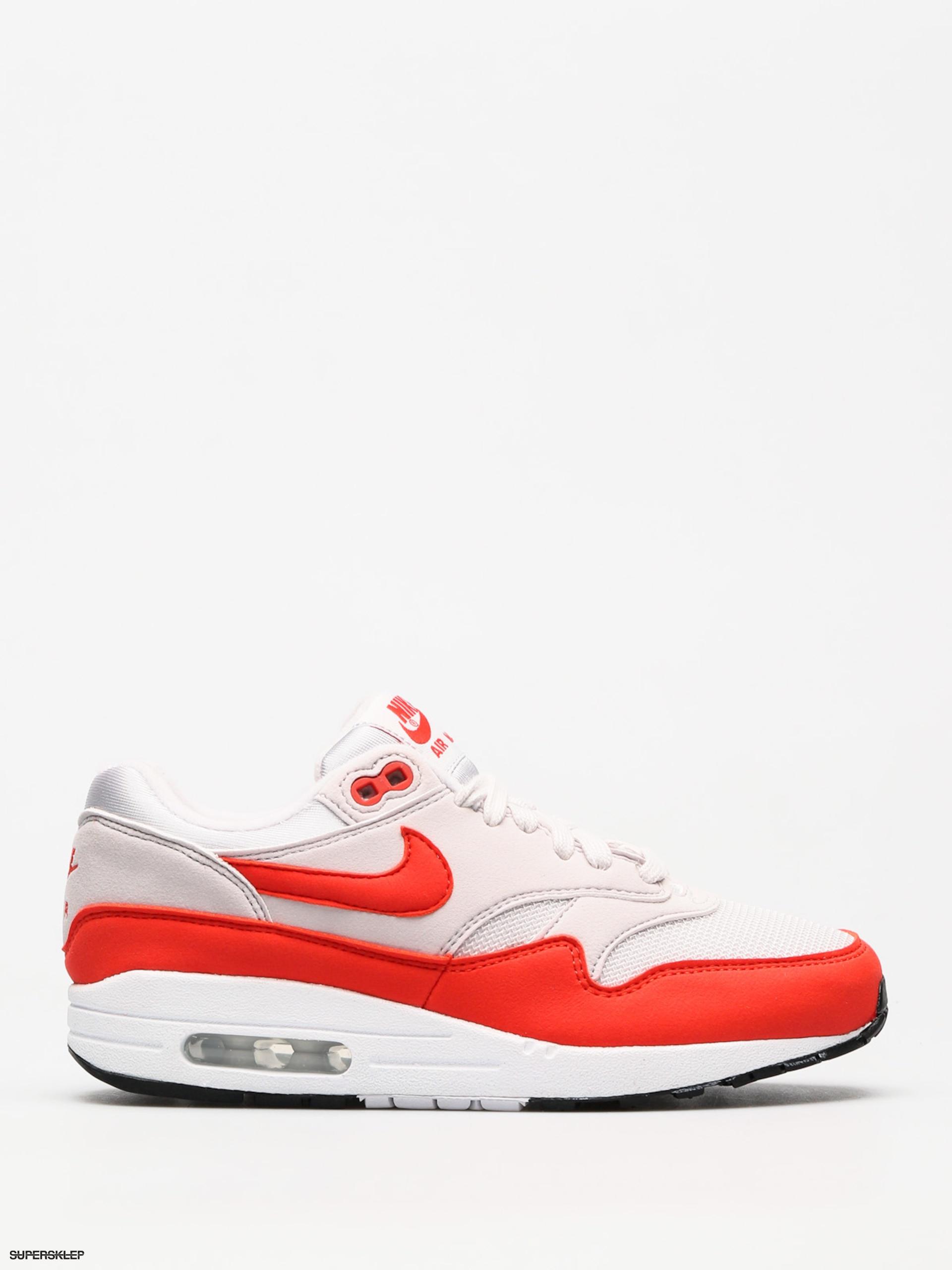 Buty Nike Air Max 1 Wmn (vast greyhabanero red)