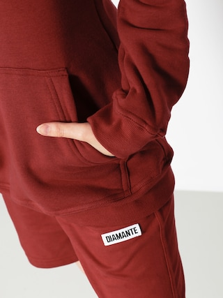 Bluza z kapturem Diamante Wear Nie Budź Mnie HD Wmn (burgundy)